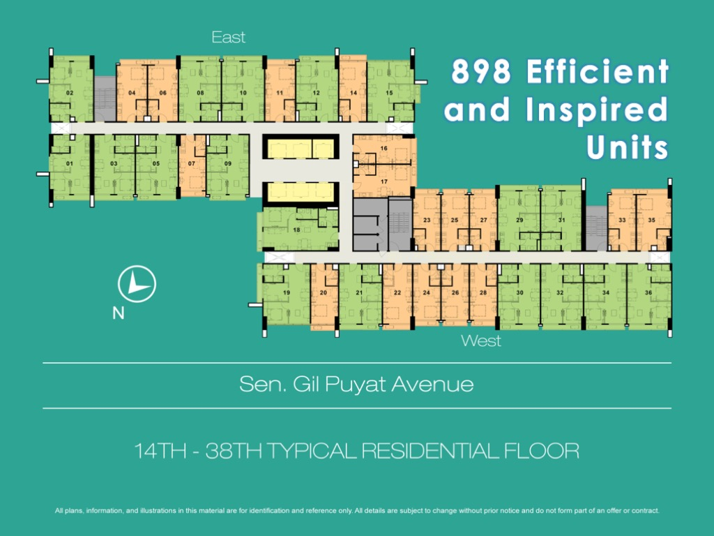 Typical residential floor 100 West Makati by FILINVEST