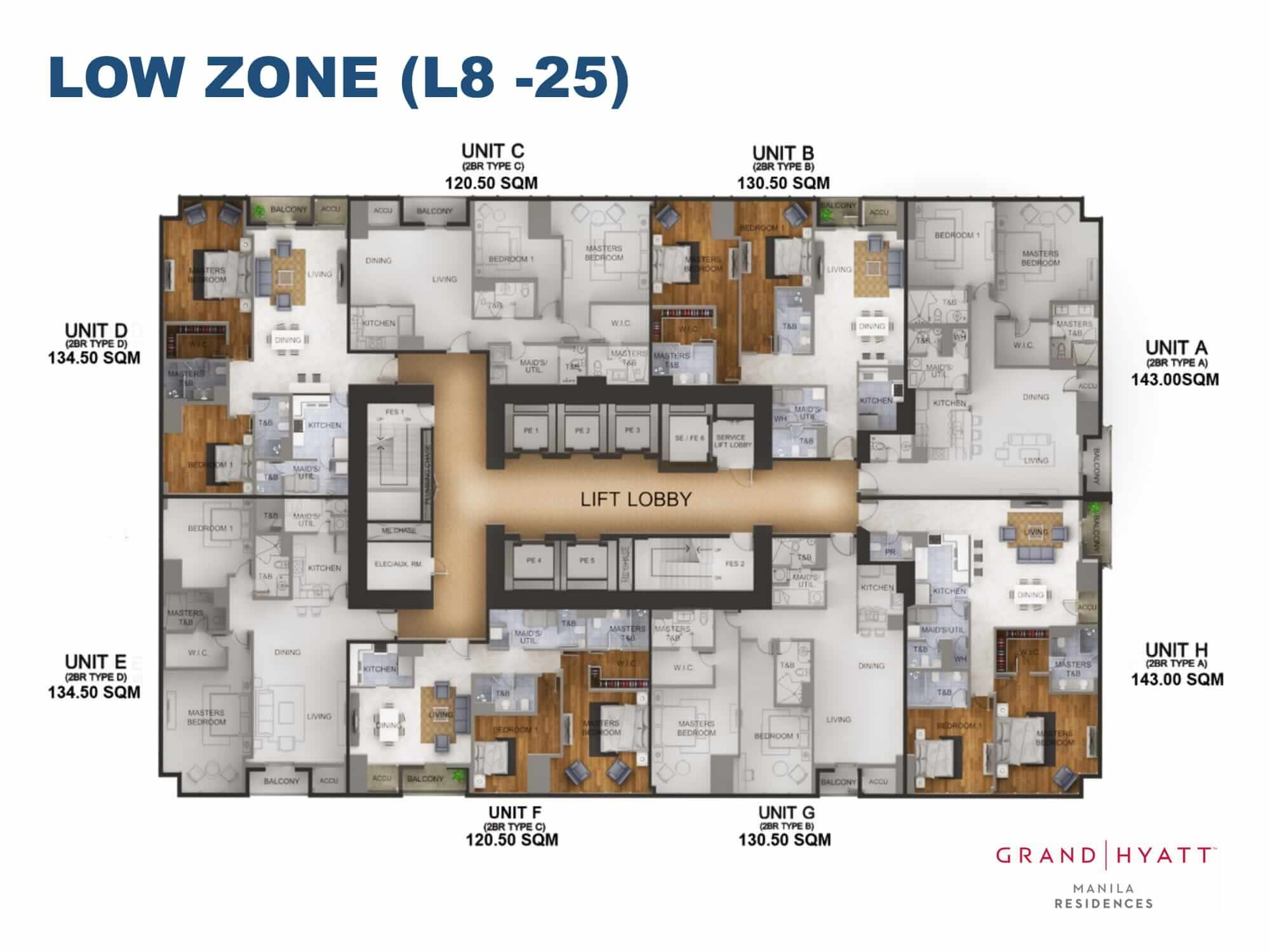 LOW ZONE L8-25 - GRAND HYATT RESIDENCES GOLD TOWER