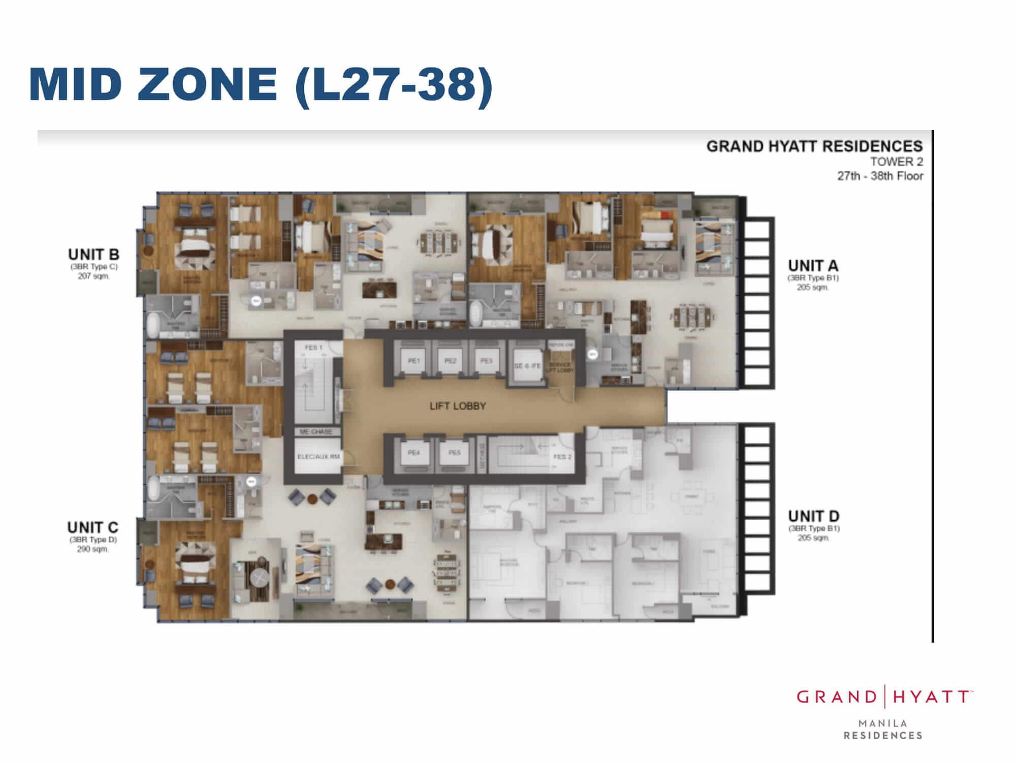 MID ZONE L27-38 - GRAND HYATT RESIDENCES GOLD TOWER