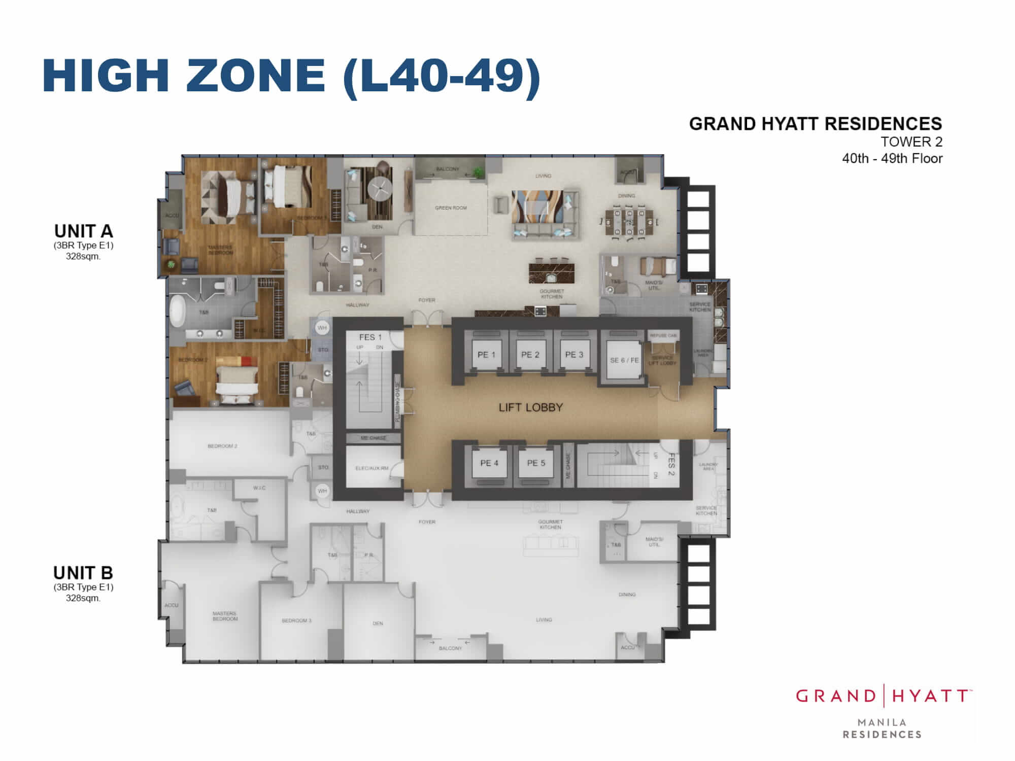 HIGH ZONE L40-49 - GRAND HYATT RESIDENCES GOLD TOWER