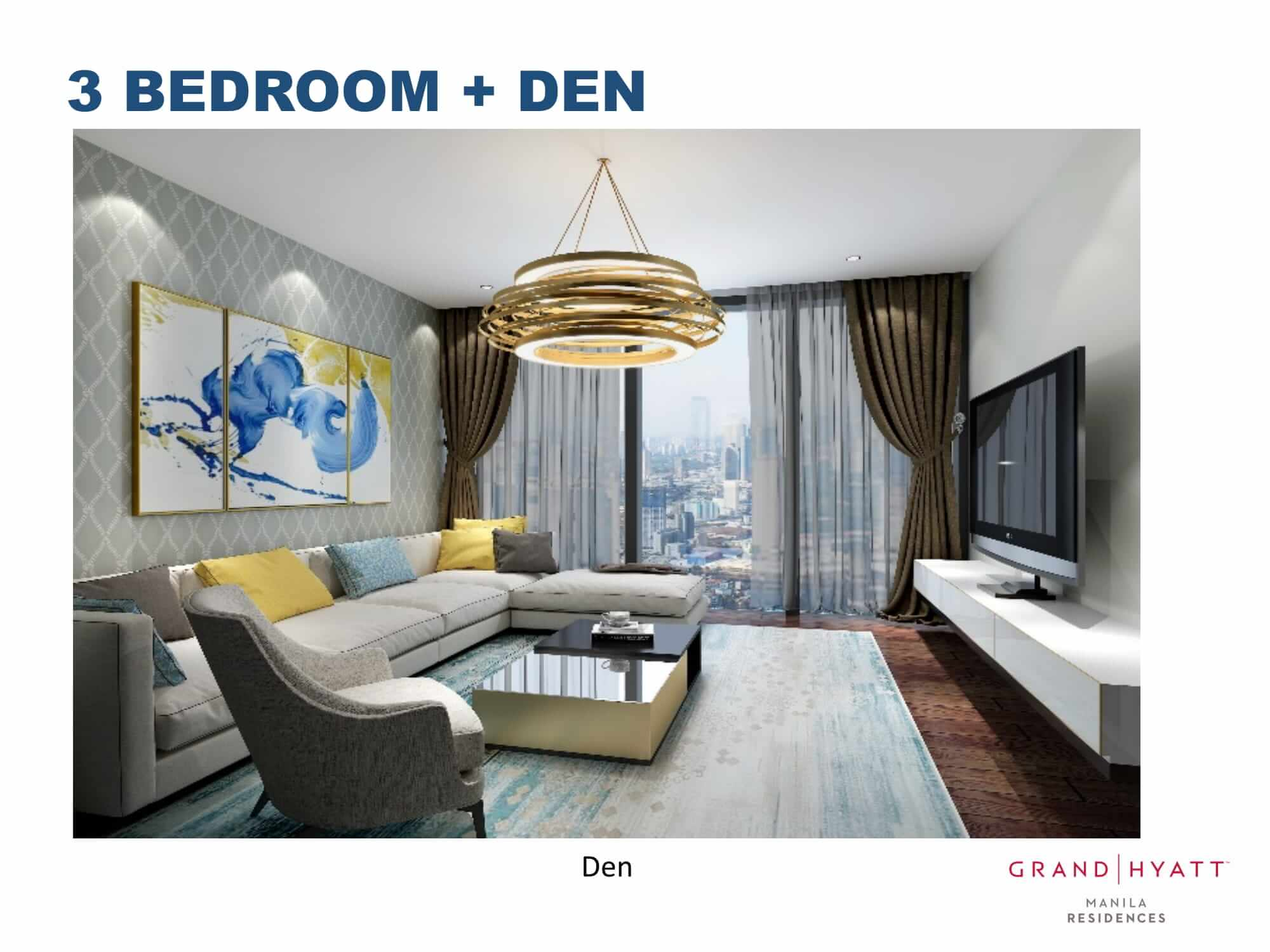 3 BEDROOMS + DEN - GRAND HYATT RESIDENCES GOLD TOWER