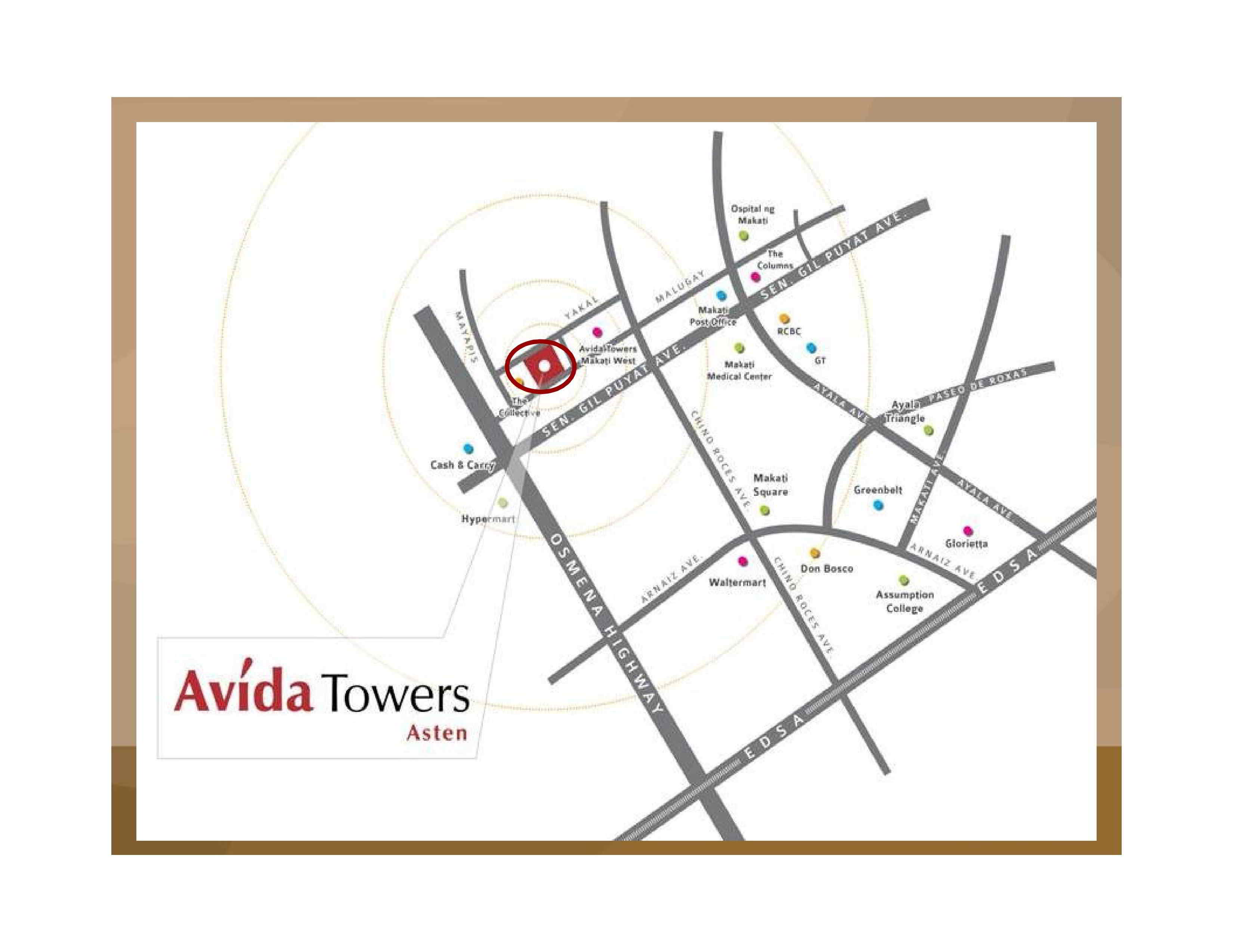 ASTEN TOWER AVIDA LOCATION