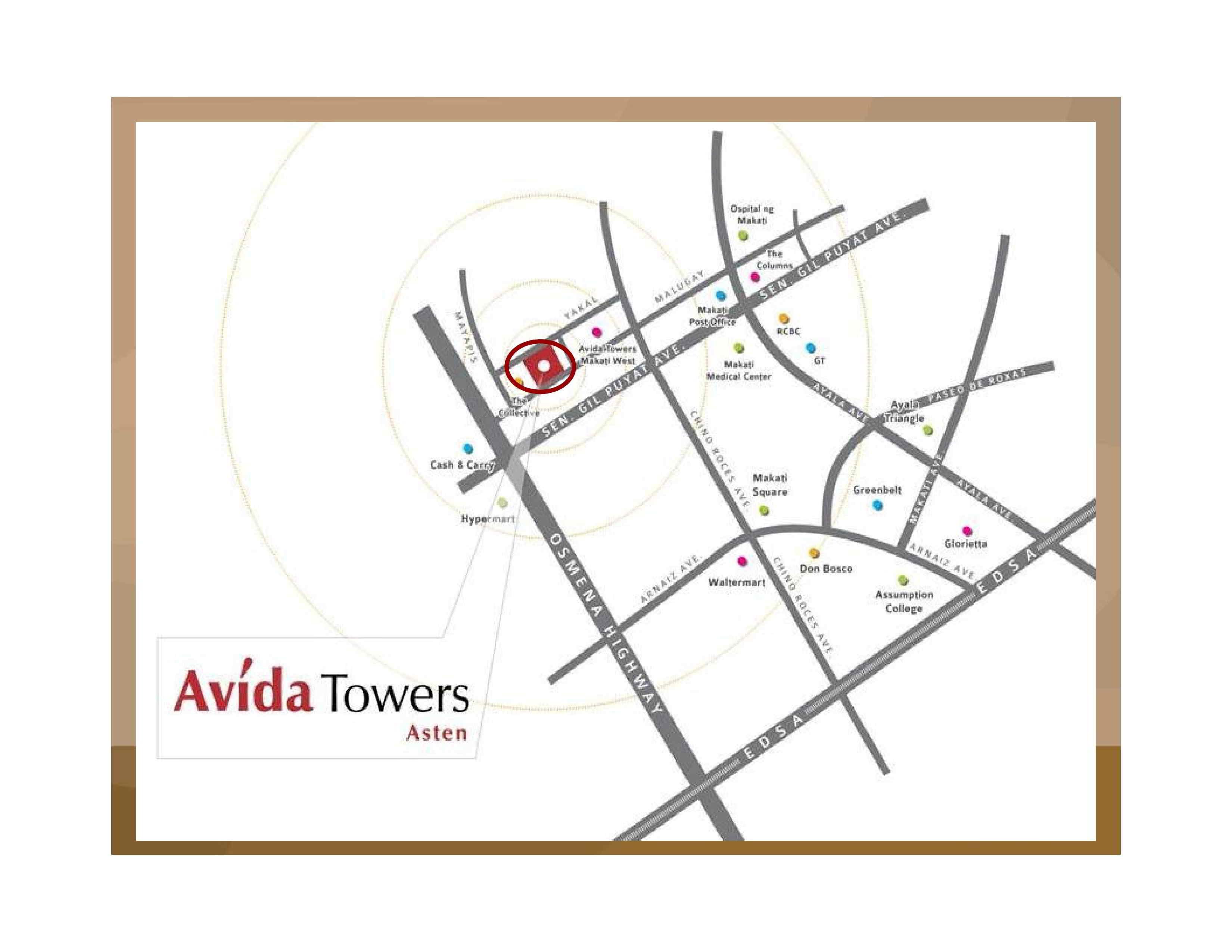 ASTEN TOWER AVIDA LOCATION
