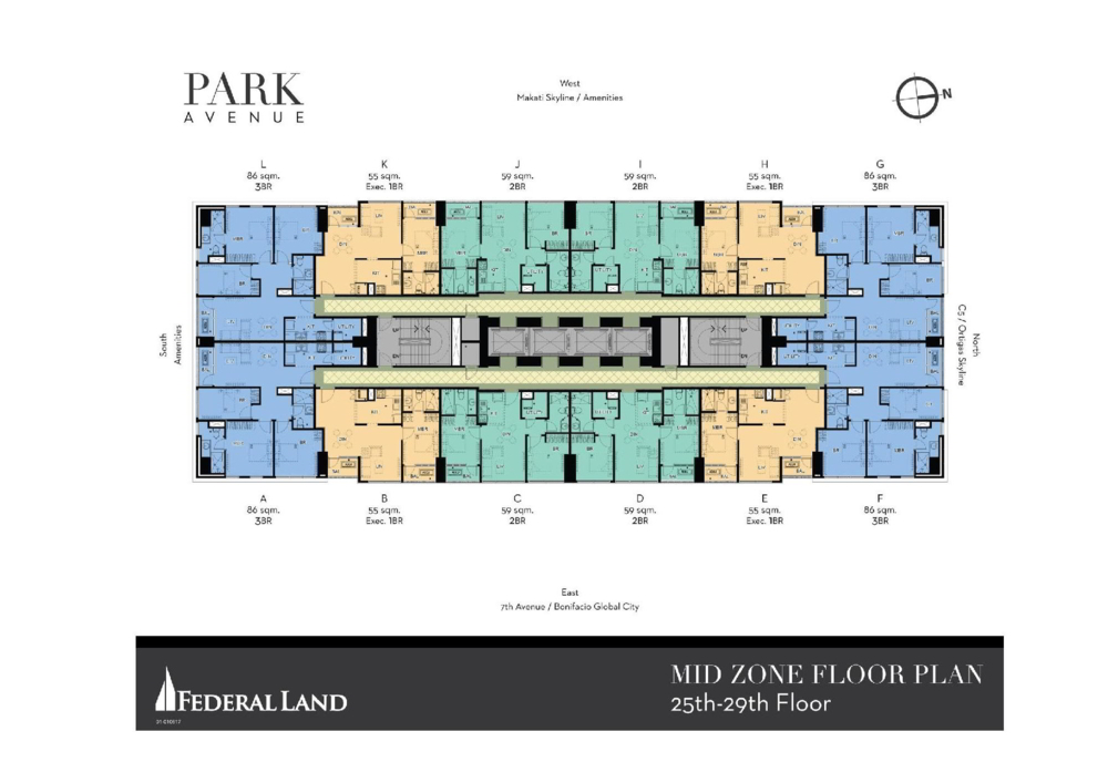 FLOOR PLAN OF PARK AVENUE BY FEDERAL LAND