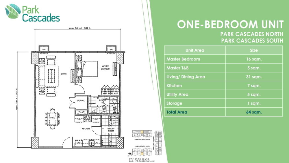 1 BEDROOM PARK CASCADE, ARCA SOUTH by ALVEO