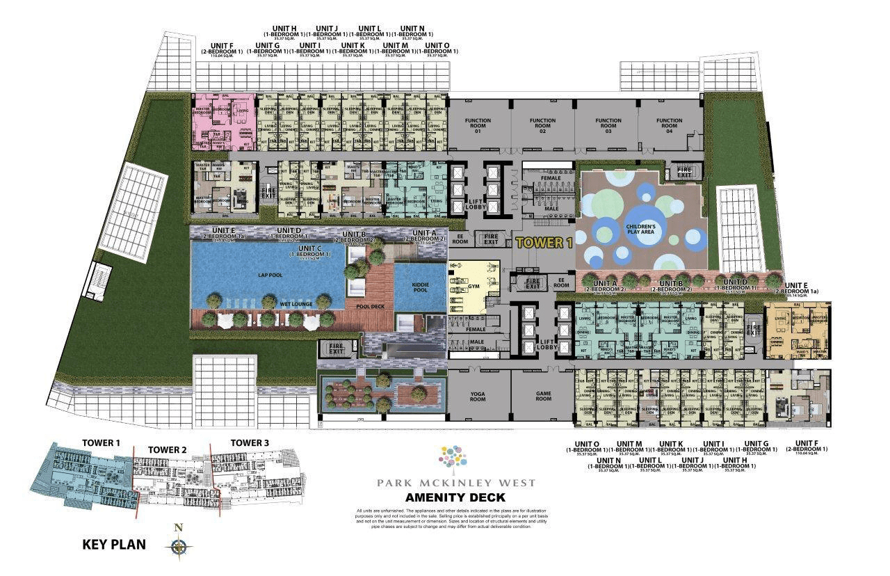 Floor plan 1 - Park McKinley West by MEGAWORLD