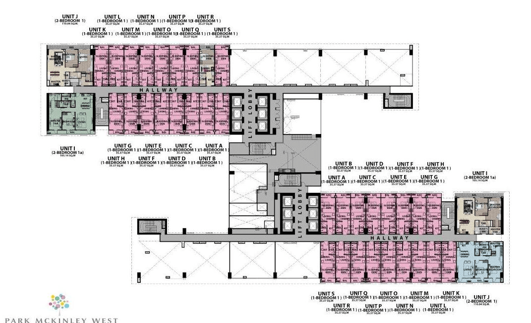 Floor plan 2 - Park McKinley West by MEGAWORLD