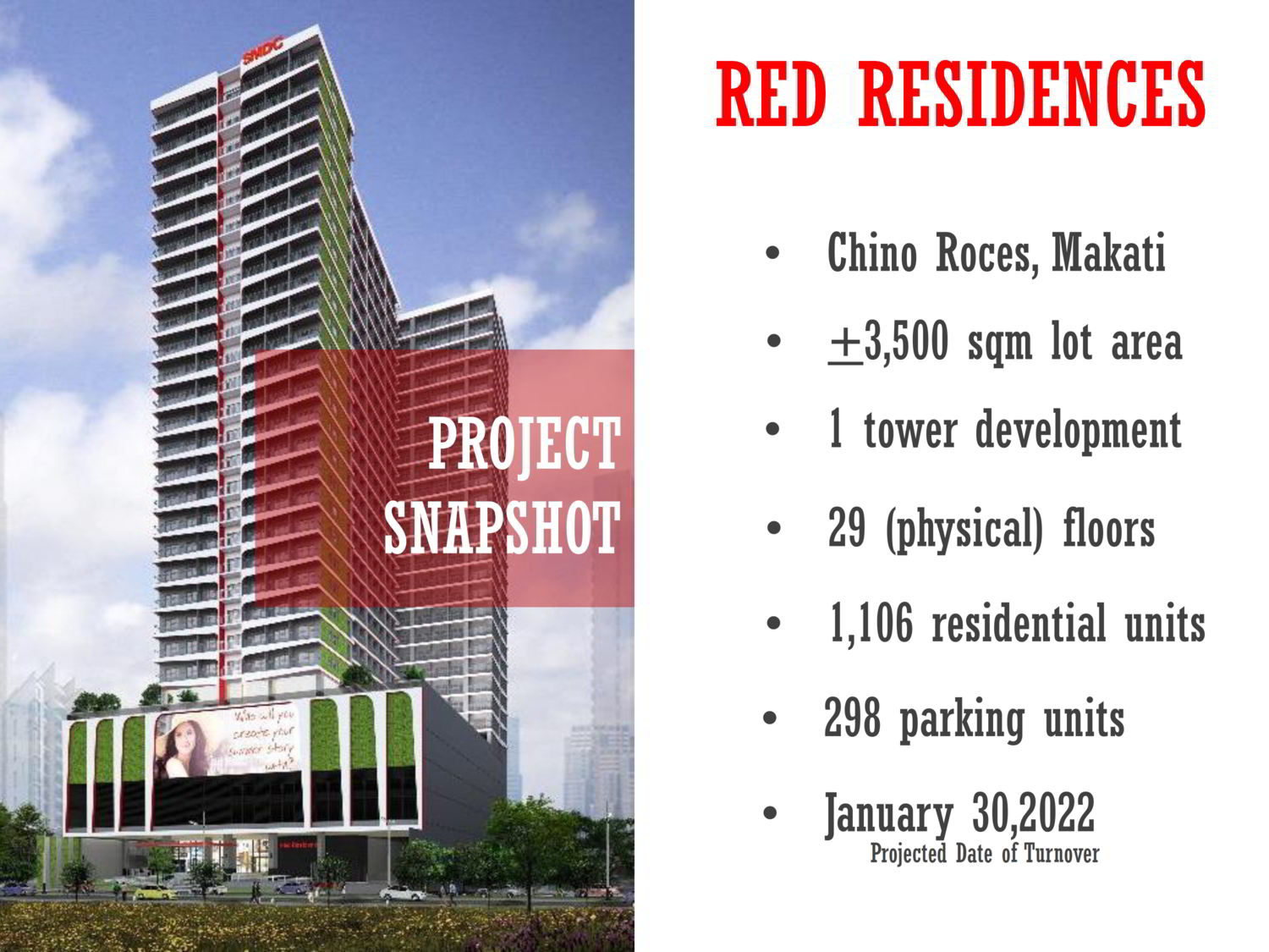 RED RESIDENCES BY SMDC