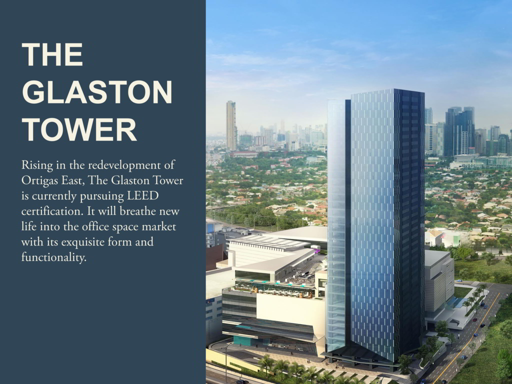 THE GLASTON TOWER BY ORTIGAS AND CO