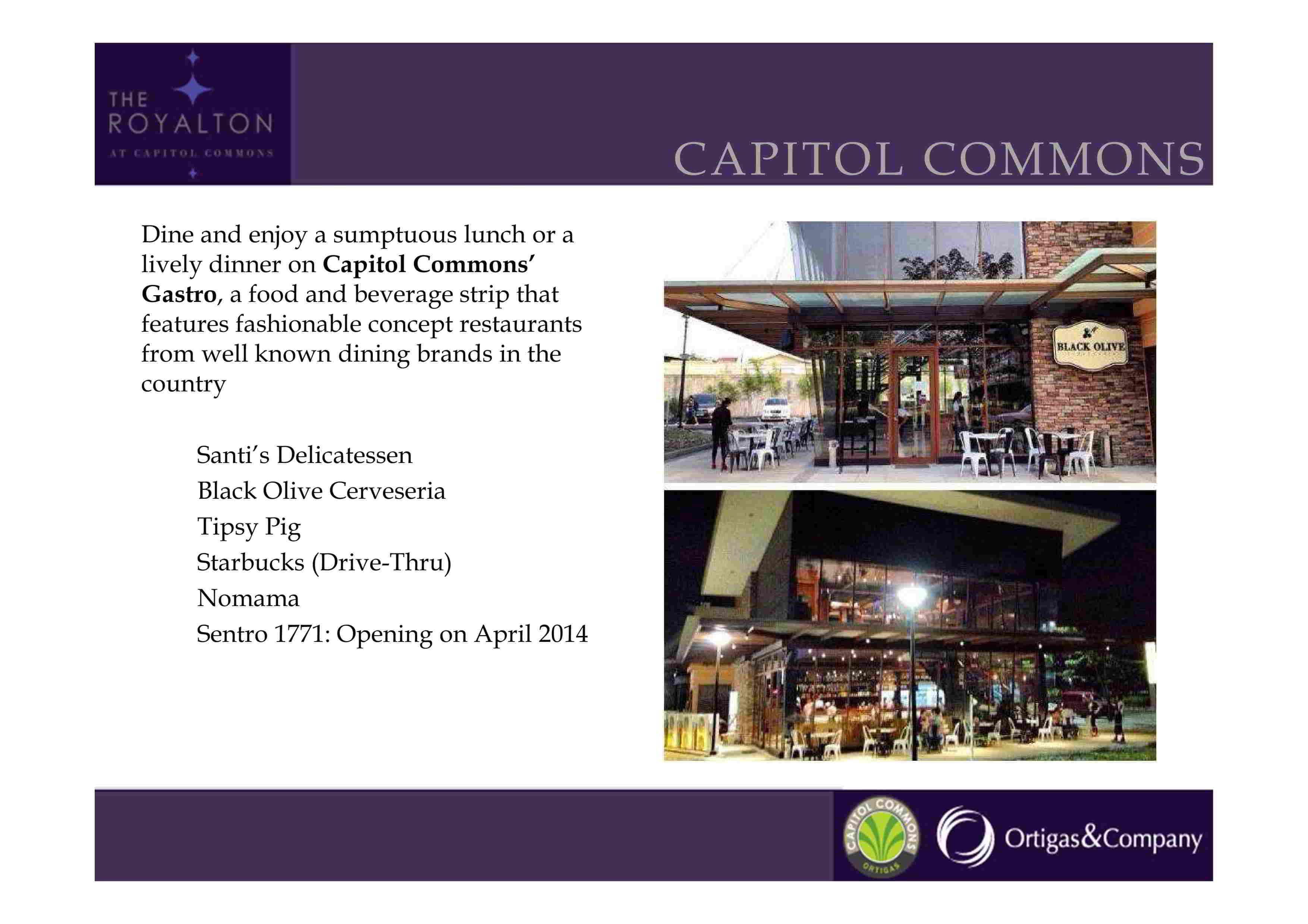 THE ROYALTON CAPITOL COMMONS BY ORTIGAS AND COMPANY
